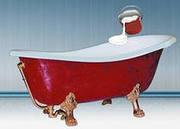 Уникальная технология реставрации чугунных ванн.